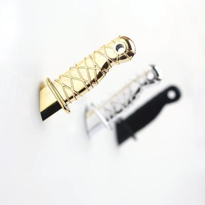 Gold Ninja Dagger Knife Magnet