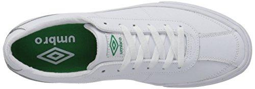 Umbro Mens Brooklyn Fashion Sneaker Bianco / Verde