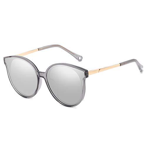 De De Gafas LBY Sol Frame Polarizadas Gafas Retro Sol Hombre Frame Sol Gafas De Gray Black para Metal De Lens Sol Color Lens Trend Silver Color de Black Gafas Eq0qxI7