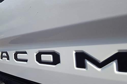 EyeCatcher Tailgate Insert Letters fits 2016-2020 Toyota Tacoma (Black Matte)