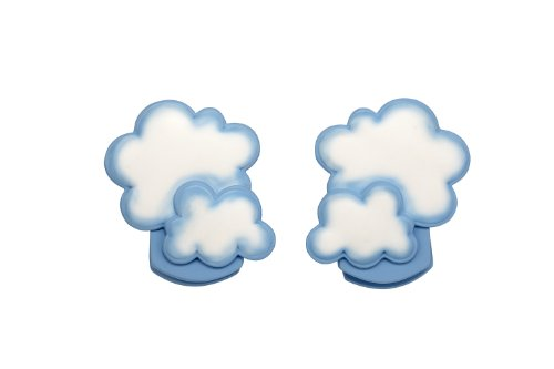 NoJo Wall Decor Clip, Cloud, 2 (Halloween Displays For Nursery)
