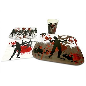 Blue Orchards Zombie Standard Party Packs (65+ Pieces 16 Guests!), Zombie Party Supplies, Decorations, Birthdays, Tableware by Blue Orchards
