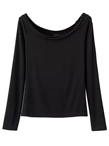 Persun Womens Cotton Shoulder T shirt