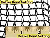 Green Vista Deluxe Knitted Pond Net / Netting - 15x20 Feet Size for Koi Ponds and Water Gardens - Tangle Free and Reusable - 1/4x3/8 Inch Mesh Keeps Out Animals and Debris - Black
