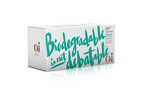 Oi Organic Cotton Tampons Biodegradable Super Plus 14 Tampons