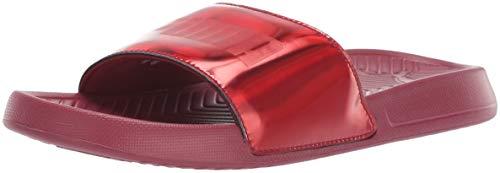 (PUMA Women's Popcat Slide Sandal, Pomegranate, 6.5 M US)