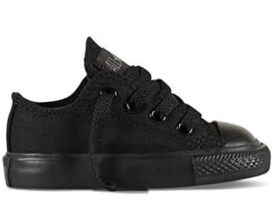 Image Unavailable. Image not available for. Color  Converse Chuck Taylor  All Star Lo Top Black Monochrome Toddlers 714786F Infants 5 97829097f