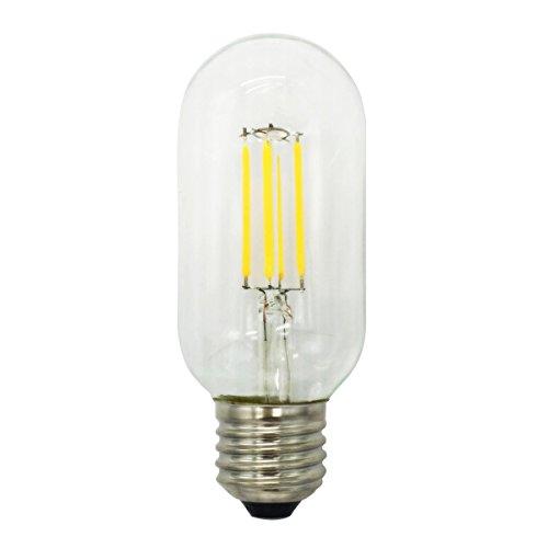 1-Pack 4W Non-Dimmable 400 lm LED Ampoule Bougie Filament Blanc Chaud E27 Candélabre Base YT-T45-10