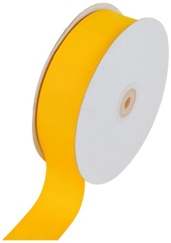 Creative Ideas Solid Grosgrain Ribbon, 1-1/2-Inch by 50-Yard, Light Gold