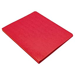 Presstex Grip Punchless Binder with Spring-Action Clamp [Set of 2] Color: Red