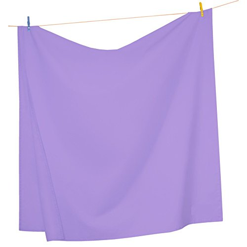 Mezzati Luxury Flat Top Sheet - Soft and Comfortable 1800 Prestige Collection - Brushed Microfiber Bedding (Lilac Lavender, King Size)