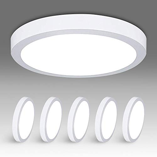 5Pack W-LITE LED Flush Mount Ceiling Light-24W