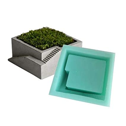 Molde de silicona para maceta de plantas suculentas, molde de silicona para flores de cemento