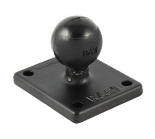 RAM Mounts 2in x 1.7in Base with 1in Ball with Universal AMPs Hole Pattern by RAMMOUNT
