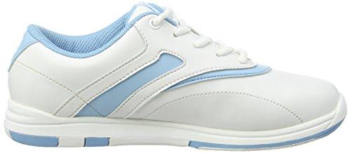 Bianco Da Scarpe Brunswick Bowling Silk Donna blu Bianco XTnqUE