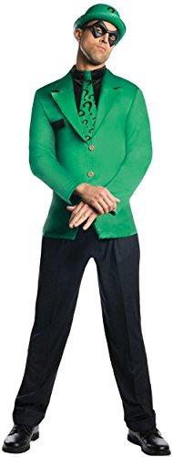 The Riddler Adult Mens Costumes (Rubie's Costume Men's Dc Super Villains Adult Riddler, Green/Black, Large)