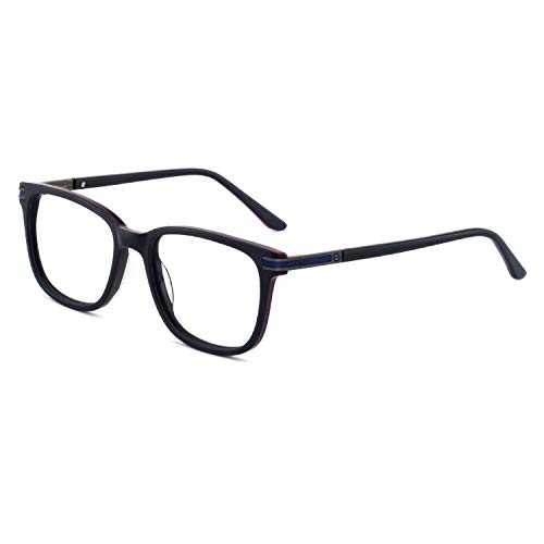 138 Eyeglasses - Men's Non Prescription Glasses Frame Fashion Clear Eyeglasses Optical Eyewear (Blue 52-18-138) RX