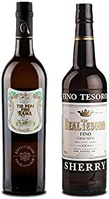 Vino fino en rama Tío Pepe d 75 cl y Vino Fino Tesoro de 75 cl - Mezclanza Exclusiva