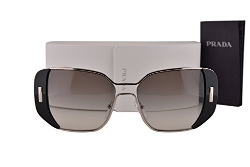 Prada PR59SS Sunglasses Silver Black w/Gray Gradient Lens 1AB0A7 SPR59S ()