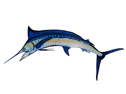 Blue Marlin Sculpture - Blue Marlin Acrylic Fish Mount and Wall Decoration