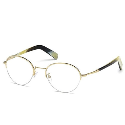 Tom Ford Round Eyeglasses TF5334 032 Size: 52mm Gold/Buffalo Horn - Tom Warranty Ford