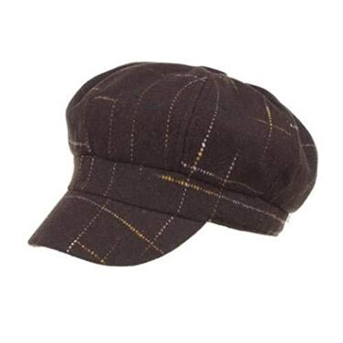 Women's Hat Simple Fashion Women Newsboy Caps Spring Style Felt Woolen Warm Hat (Coffee,55-58cm)