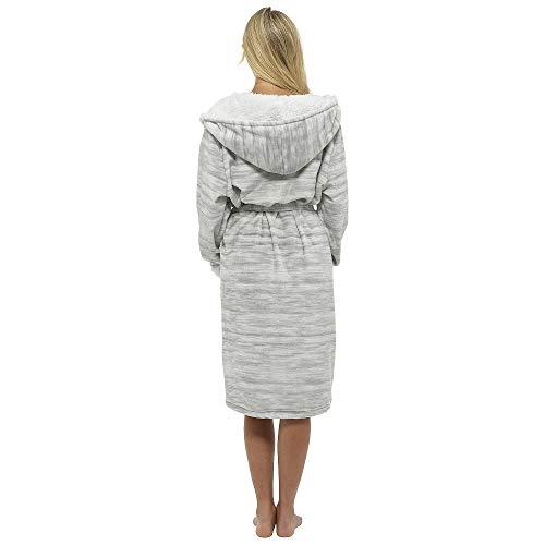 Girls Grey Regalo Pelo Morbido Vestaglia Con Natale Shades Citycomfort Avvolto In Gowns Donna Di Kimono Accappatoio Da Pile Nastro wxq6qITY