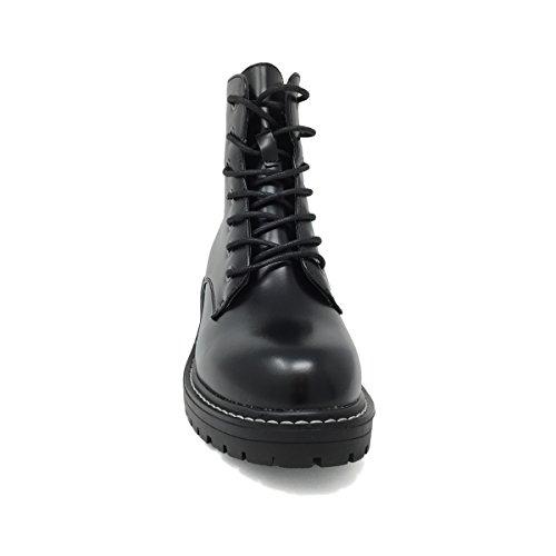 Jeck'o Scarpe Inverno Dr Donna Martens Tipo Pelle Nero Eco Anfibio Stivaletti in shoes Modello Tronchetti rC0wr5q