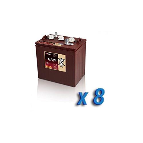 Trojan - Battery Pack 48V Photovoltaïque Accumulation 8x T-125 6V 240Ah batteries Trojan - T-125x8