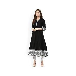 AnjuShree Choice Women Stitched Printed Cotton Anarkali Kurta Kurti