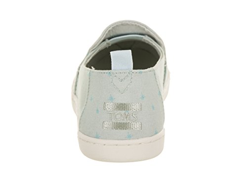 TOMS On Deconstructed Slip Cinderella Canvas Blue Blue Printed Women's Shoe Alpargata YUYOwHrTq