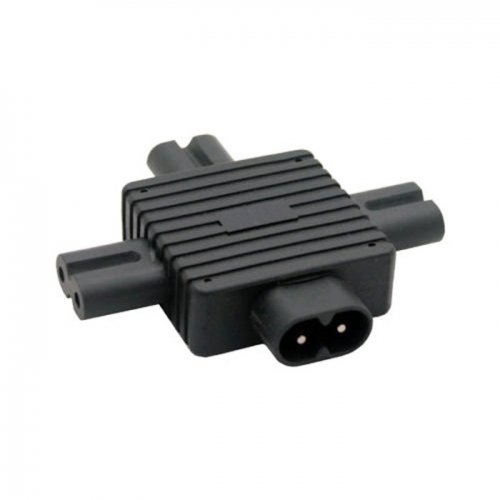 JSER IEC 320 Figure 8 C8 Male to 3X Female C7 Splitter Power Adapter for Power Supply 1 in 3 out