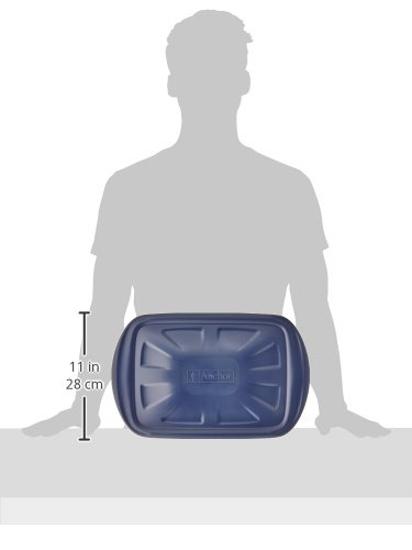 Anchor Hocking 6-Piece Essentials Bake-N-Take Set with Blue Plastic Lid and Blue Tote by Anchor Hocking (Image #5)
