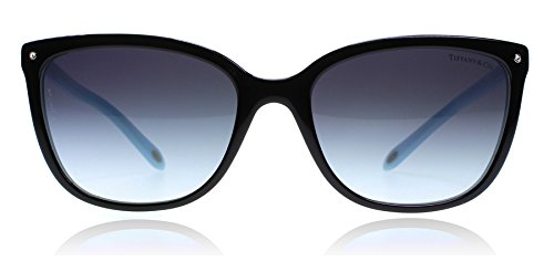 Tiffany 4105 8055-3C Black 4105 Cats Eyes Sunglasses Lens Category 3 Size - Cat Eye Sunglasses Tiffany