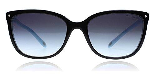 Tiffany 4105 8055-3C Black 4105 Cats Eyes Sunglasses Lens Category 3 Size - Cat Tiffany Sunglasses Eye