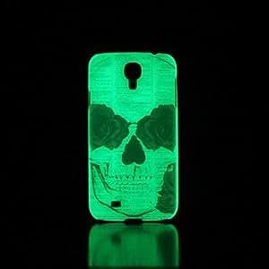 GX cráneo patrón resplandor en el caso duro oscuro para i9500 Samsung Galaxy S4