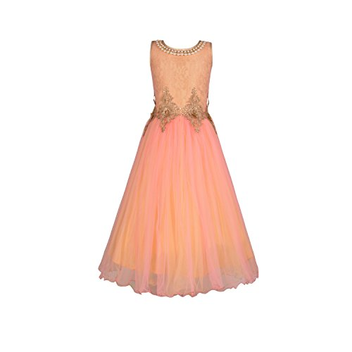 Aarika Girl's Party Wear Ball Gown (2019-PINK_30_8-9 Years) by Aarika