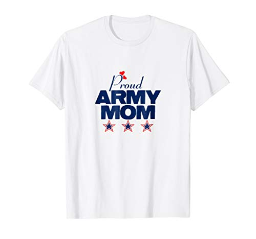 Army Mom Yellow T-shirt - Proud Army Mom Red White and Blue T-shirt