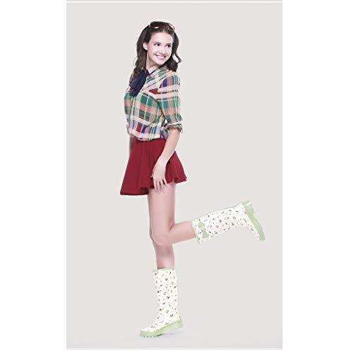 Cubre Lluvia Señoras Matcha Botas Moda Antideslizantes Completos Goma Zapatos De Green Impermeables Cereza q0BE1xH