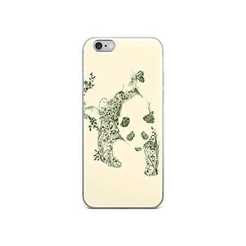iPhone 6/6s Case Anti-Scratch Creature Animal Transparent Cases Cover Sketch of Nature Animals Fauna Crystal Clear
