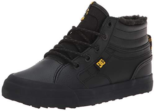 - DC Boys' Evan HI WNT Skate Shoe, Black/Yellow, 3.5 M US Big Kid