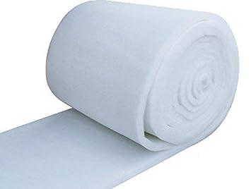 IZO Home Goods 48 Inch Wide (5 yards) Quilt Batting Multipurpose Dacron Fiber Polyester Wadding Fabric 1/2 Loft Upholstery Grade Padding