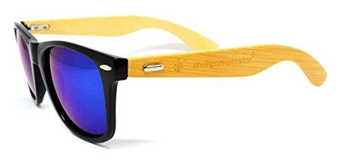colección Azul unisex 2018 WOOD nueva gafas de Millennium Negro de Star sol PqTSF81w