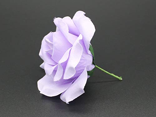 Silk Rose Heads, 12pcs, Lavender Artificial Flowers