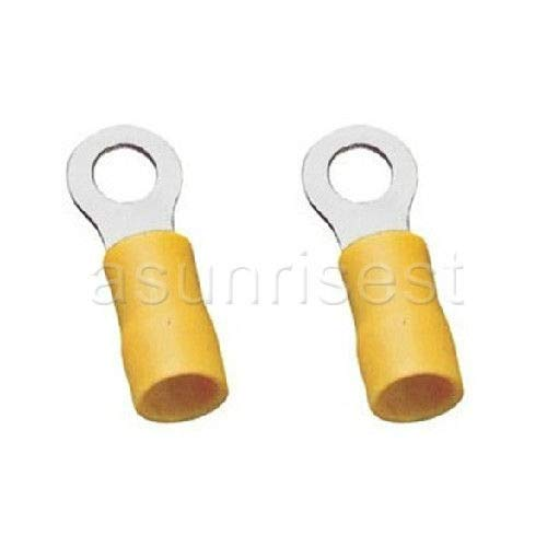 (FidgetFidget Terminal Connector 1000 × Yellow Ring for 12-10 AWG Guage Insulated 1/4'' Stud)