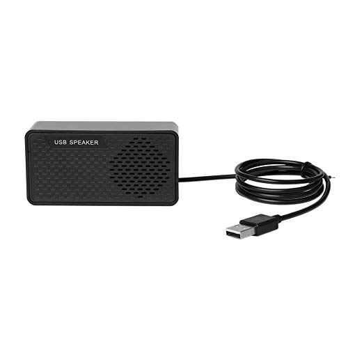 Gamogo HK-5007 Computer Speaker USB Speaker Plug & Play Portable USB-Powered Speaker Double Horn 3W Output Suitable for USB2.0 and Above Interface with 1.2-Meter Cable Speaker for PC Laptops