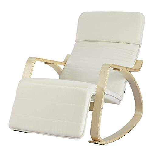 SoBuy NEW! Comfortable Relax Rocking Chair Lounge Chair Recliner with...