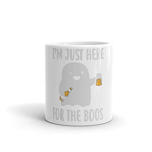 I'm just here for the boos mug halloween mug halloween cup halloween party halloween costume funny halloween halloween ghost ghost party gho, 11oz, 15oz, gift, coffee mug, tea cup, (Starbucks Cup Halloween Costume)