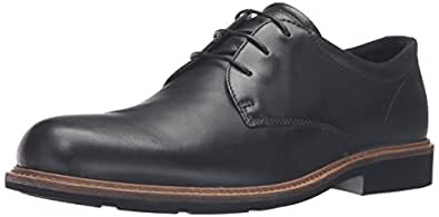 ECCO Men's Findlay Plain Toe Tie Oxford,Black,44 EU/10-10.5 M US