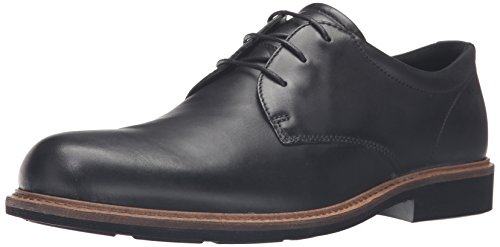 ECCO Men's Findlay Plain Toe Tie Oxford,Black,44 EU/10-10.5 M US Ecco Plain Toe Oxfords